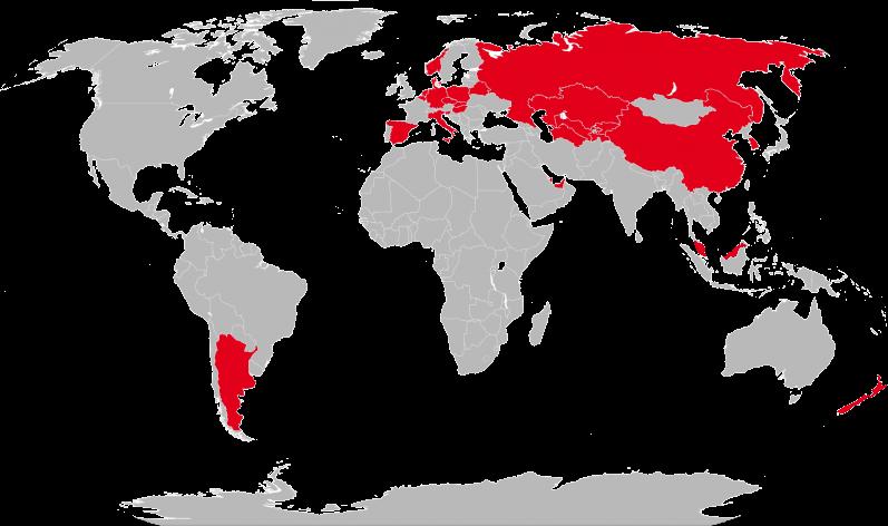 Weltkarte Partner