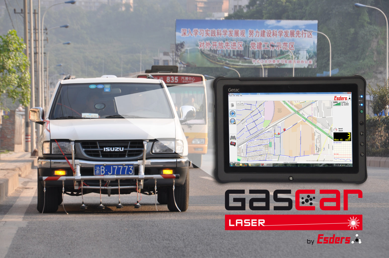 Gas detection vehicles