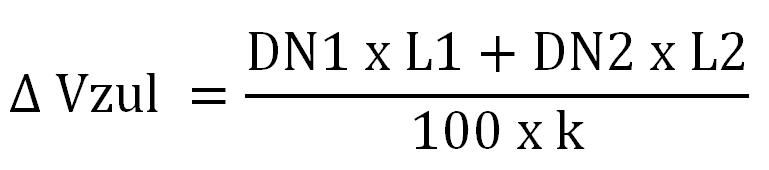 Formel-Wasserverlust-Nennweiten