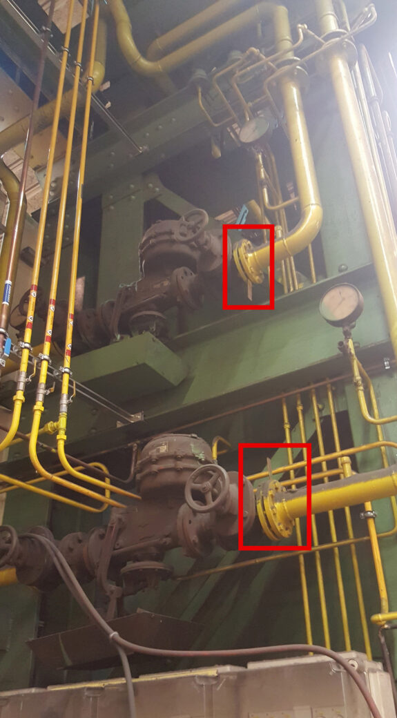Verbindungen-Industriegasanlage