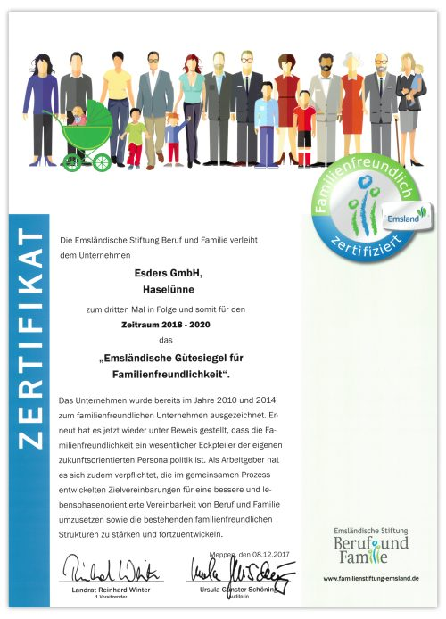 Zertifikat Familienfreundlich